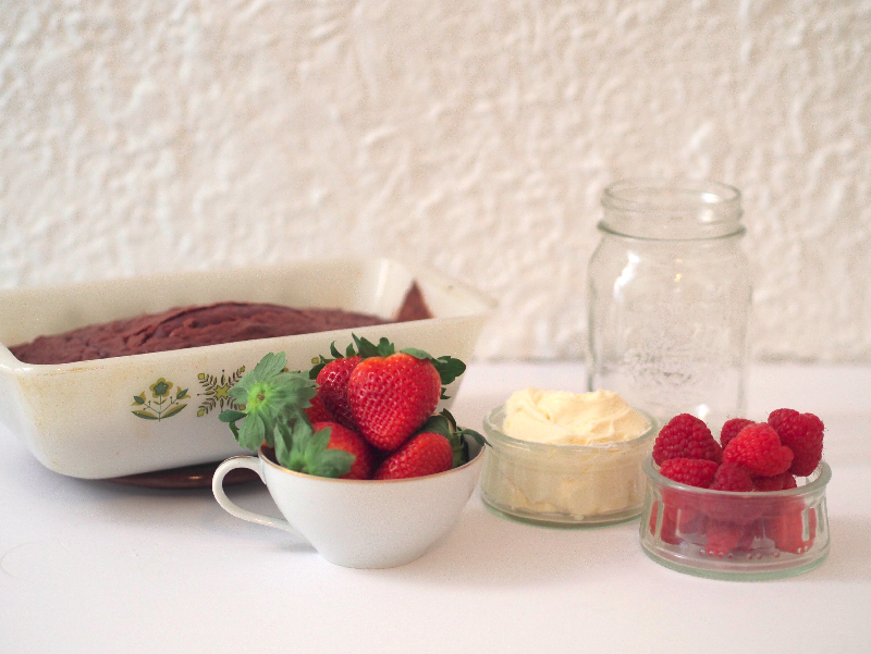 Valentine's day DIY- strawberries and raspberries