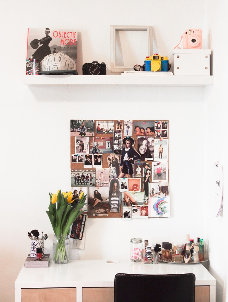 Work place decor inspiration pin board